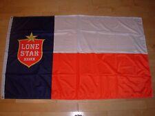 LONE STAR BEER lonestar TEXAS INDEPENDENCE FLAG Label Art craft beer brewery