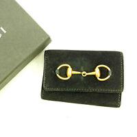 Gucci Key holder Key case Black Gold Woman unisex Authentic Used C2640