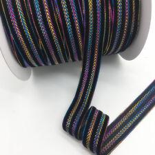 "5yds 1""(25mm)Black Velvet Ribbon Headband Clips Bow Wedding Decoration #x002"
