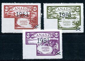 Weeda Canada V10-V12 VF MNH set of 3, 1981 CanPhil Courier Service locals CV $14