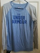 Women's size Medium Under Armour Shirt Soccer Mom Raglan blue