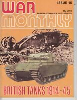 War Monthly Magazine June 1975 - BRITISH TANKS 1914-45 48 pages  / t2