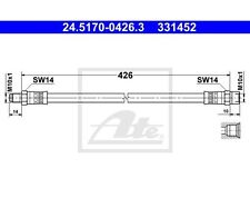 ATE Bremsschlauch   Mercedes-Benz S-Klasse T1 Kasten T1 Pritsche/Fahrgestell