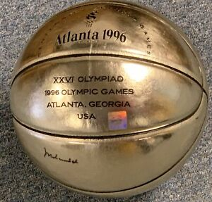 Muhammad Ali Signed Atlanta 1996 Olympic Gold Medal Trophy Basketball