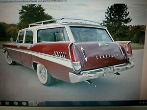 1957 Chrysler Windsor Station Wagon Nice Original Tail Light Lense # 1753504