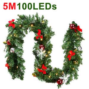 Weihnachtsgirlande 5M Beleuchtet mit LED Lichterkette Girlande Tannengirlande