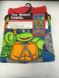 Teenage Mutant Ninja Turtles The Beach Towl 30 By 60 Inches 100% Cotton