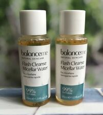 Balance Me Flash Cleanse Micellar Water 99% Natural 2 x 30ml Travel *FAST POST*