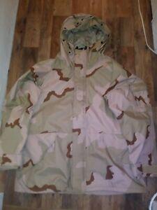 US military cold weather parka 3 color desert Camouflage XL regular USAF USMC