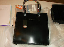 "Harley-Davidson ""saddlebag"" leather tote purse black"
