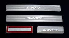 4 DOOR SILL SCUFF PLATE STAINLESS STEEL SUZUKI SWIFT 2005 - 2010 06 07 08 09 new