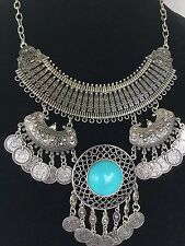Unique Egyptian Bedouin(Tribal Style)Belly Dance Coins Necklace Handmade!!!WOW