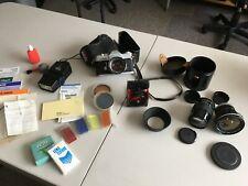 Canon Pellix 35mm Slr Film Camera + Multiple Lenses + Flash & Accessories
