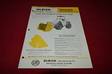 Michigan Tractor Loader Ulrich Universal Bucket Dealer Brochure AMIL12