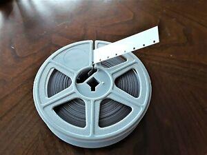 1 NEW 16mm KODAK MOVIE LEADER 100' (SILENT)  WHITE (ACETATE) on NEW plastic reel