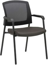 CLATINA Mesh Back Stacking Arm Chairs with Upholstered Fabric Seat and Ergonomic