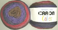 Caron Cakes Yarn by Yarnspirations ~ Blackberry Mousse ~ Lot of 2 New Cakes