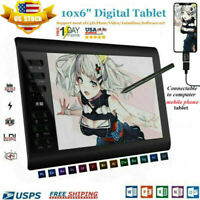 "10x6"" Digital Graphics Drawing Tablet PC Artist Board Pad Painting +Pen 2020New"