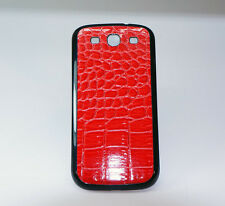 Samsung Galaxy S3 i9300 Kroko-Leder Optik AKKU DECKEL BACK COVER LEDER