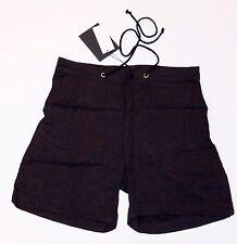 GESTUZ Drape LOOSE Tailored CUFFED Black DRAWSTRING Shorts HIP Pockets 36 $149