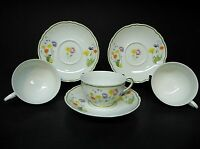 DENBY  ENGLISH GARDEN  SET OF 3 CUPS  AND SAUCERS  ..