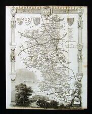 c. 1850 Thomas Moule Map  Buckinghamshire County Buckingham Aylesbury England UK
