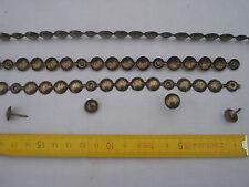 1 m faux clous de tapissier bande de clous factices  bronze doré