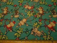 MONKEYS FABRIC ZANY ZOO  BY THE 1/2 YARD  NEW FROM FABRI-QUILT