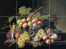 Art Still Life Grape Wine Ceramic Mural Backsplash Bath Tile #1803