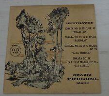Orazio Frugoni Piano Beethoven Sonata no' 21, 15, 25, 26 VOX LP