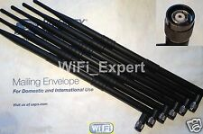 6x New Dual Band 2.4GHz 5GHz 9dBi RP-TNC High Gain WiFi Wireless Antenna USA