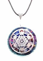 necklace Orgone orgonite pendant Cube of Metatron,Protection EMF, energy .Unisex