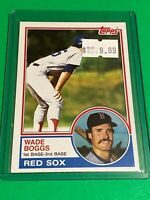 🔥 1983 TOPPS Baseball Card Set #498 🔥 BOSTON RED SOX 🔥 Wade Boggs ROOKIE RC