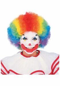 Kids Child Boys Girls Multi Color Clown Wig Afro