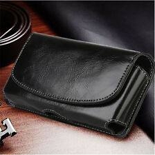Horizontal Leather Cell Phone Pouch Case Belt Loop Holder for iPhone 7 6 6s Plus