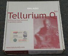 Tellurium Q Ultra Black spk cbls. 3m pr w/spades. NEW. +ve reviews. $2,200 MSRP