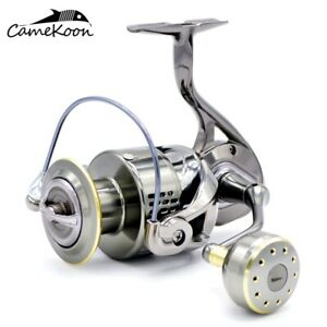 Ultra Smooth 9+1 Bearings Spinning Reel Aluminum Body Powerful Saltwater Fishing
