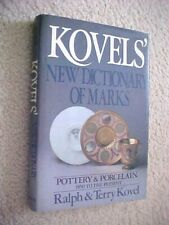 KOVEL'S NEW DICTIONARY OF MARKS POTTERY & PORCELAIN 1850 TO PRESENT