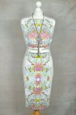 KAREN MILLEN Beautiful ivory floral botanical pencil dress 14 Wedding Races