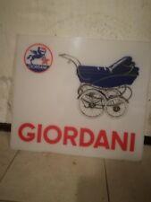 pubblicità GIORDANI auto pedali latta carrozzina vintage anni50 rara originale