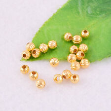100pcs Gold Plated Round Pumpkin LANTERN Spacer Beads Jewelry Making 5mm G5NGZ#