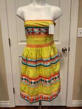 Leifsdottir Anthropologie Multi-Color Patchwork Embroidered Dress, Size 2P