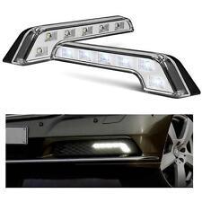 1 x Pair Universal L Shape Merc Style DRL Daytime Running Lights 6000k - Citroen