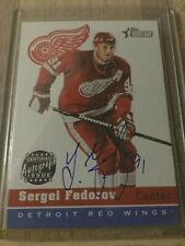 2000-01 Topps Heritage Red Wings Hockey Card Sergei Fedorov Auto Autograph