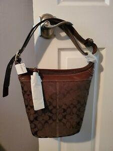 NWT Coach Large Bleecker Chocolate Brown Signature Duffle Bag 11437 New
