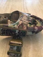 New listing service dog harness with handle,tactical Fits 22-30, New,camouflage