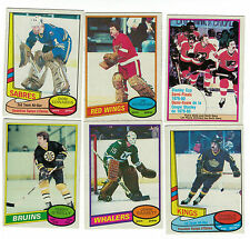1980-81 OPC NHL Hockey lot - pick only the cards you need - 2 for $1