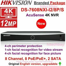 Hikvision 4K NVR AcuSense DS-7608NXI-I2/8P/S 8CH 8PoE 2SATA 4-ch Deep Learning