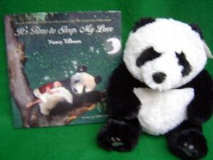 Its Time To Sleep My Love Book & soft plush Panda toy Set Nancy Tillman