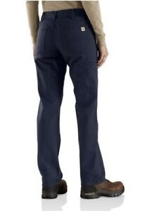 Carhartt FR Flame Resistant  Canvas Women's Work Pant Size 2 30 NEW